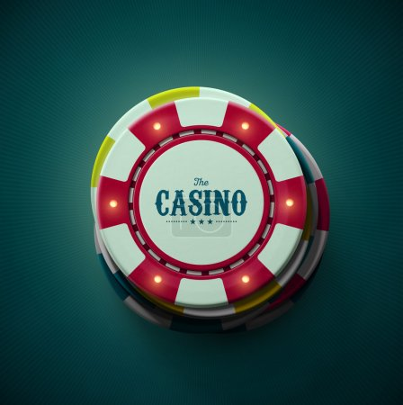 Casino chips top