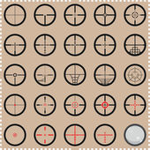 Collection of crosshairs