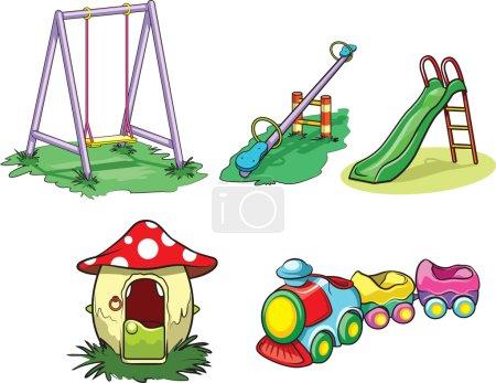 Illustration pour Équipement de terrain de jeu ordinaire . - image libre de droit