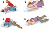 Recovery position of the body