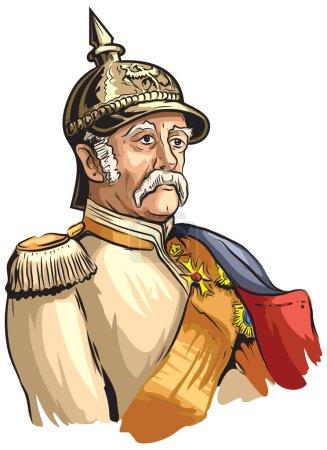 Photo for Cartoon portrait of Otto von Bismarck - Royalty Free Image