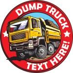 Vector illustration of tipper truck logo example....
