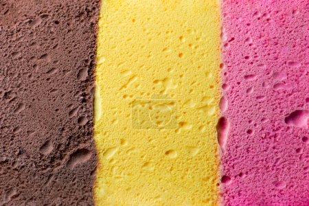 Photo pour Texture et fond coloré napolitaine crème glacée - image libre de droit