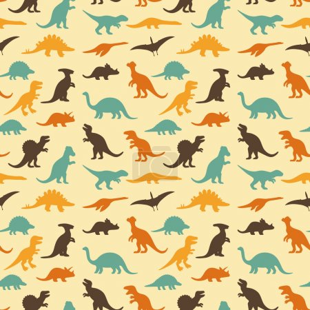 Dinosaur retro pattern background