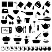 Vector set icons cooking manual instructions