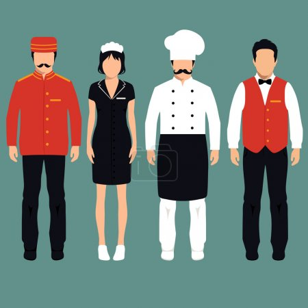 Vector icon hotel service profession,