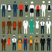 Vector icon workers profession people uniform cartoon vector illustration