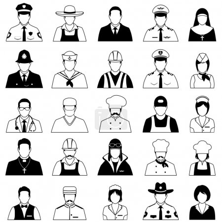 Photo for Vector icon workers, profession people, cartoon vector illustration - Royalty Free Image