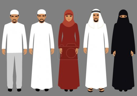 arabic people, man and woman