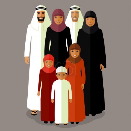 arab family, muslim people,