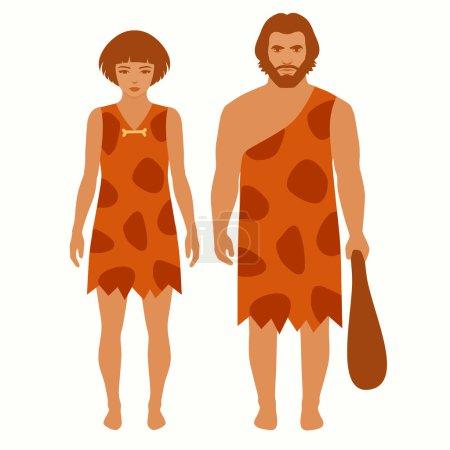 caveman, vector primitive people