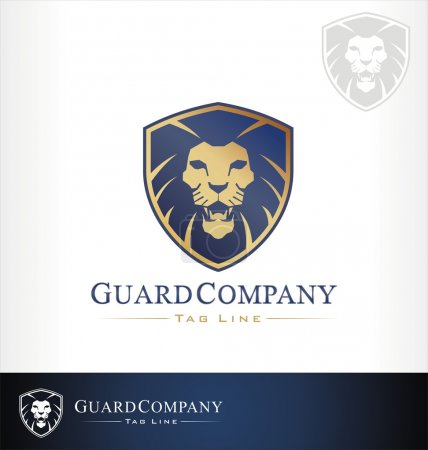 Illustration for Lion vector - Royalty Free Image