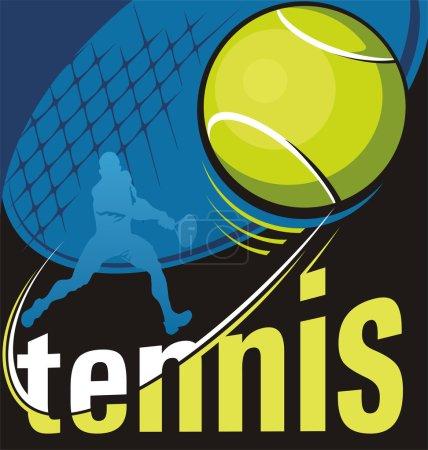 Illustration pour Affiche vectorielle tennis - image libre de droit