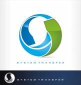 System transfer logo vector or exchange symbol