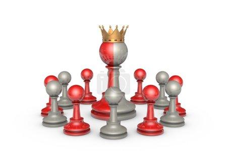 Photo pour Théâtre d'échecs sur un isolement de fond blanc - image libre de droit