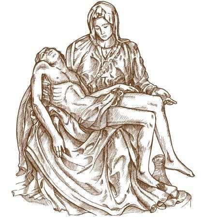 pieta statue of Michelangelo on