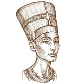 Bust of Nefertiti hand drawn