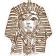 Tutankhamon mask hand drawn...