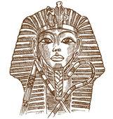 tutankhamon mask hand drawn