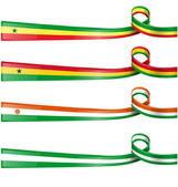 Africa flag set on white background