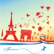 France holiday background with symbol and flag