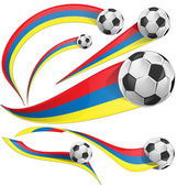 Colombia background with soccer ball