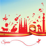 Spain travel background Vector illustration