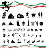 ITALIAN symbol set with flag