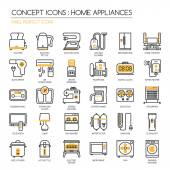 Home Appliances  thin line icons set pixel perfect icons Pixe