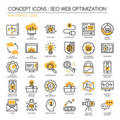 Search engine optimization  thin line icons set Pixel Perfect