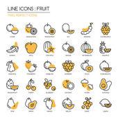 Fruit  thin line icons set pixel perfect icon