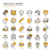 Bakery thin line icons set  Pixel perfect icons