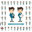 Set of businessman character , eps10 vector format...