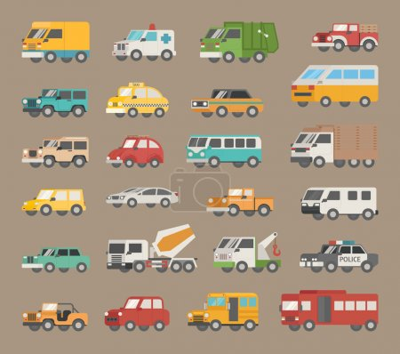 Illustration for Set of car icon , eps10 vector format - Royalty Free Image