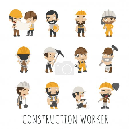 Illustration for Industrial contractors workers people ,  eps10 vector format - Royalty Free Image