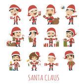 Sada znaků kostým Santa Claus