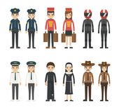 Set of profession characters  eps10 vector format