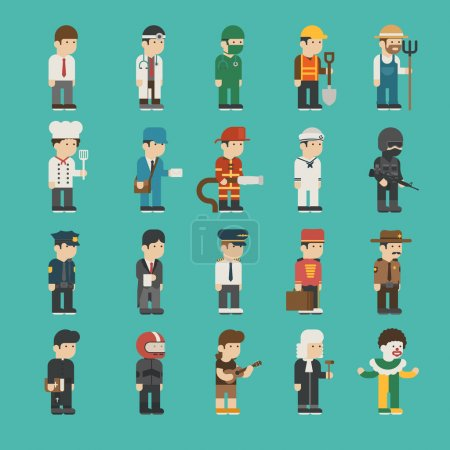 Set of profession characters