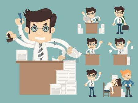 Illustration pour Ensemble d'employés de bureau, format vectoriel eps10 - image libre de droit