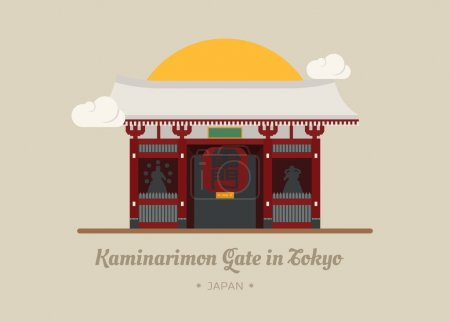 Kaminarimon Gate in Tokyo , Japan
