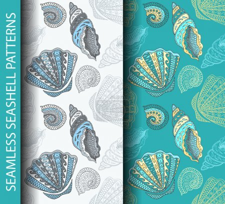 Seamless seashell patterns