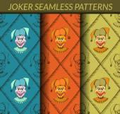 Joker seamless patterns