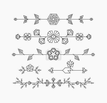 Geometrical floral design elements