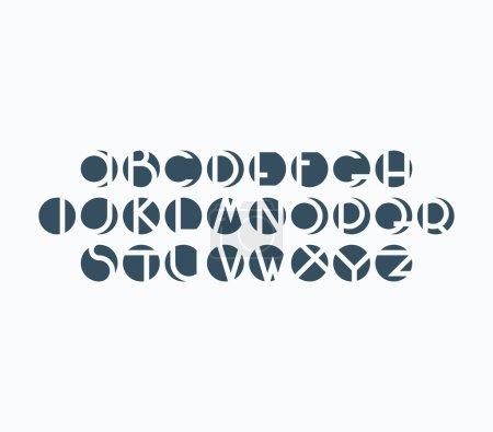 Negative space font