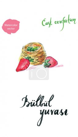 Watercolor east confection