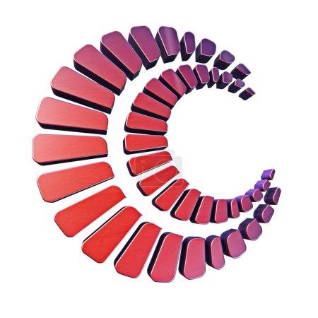 Abstract circle logo style 3d model