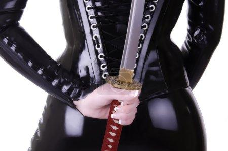 Sexy woman with katana