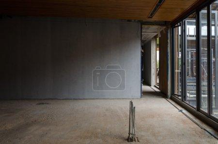 Interior of construction site