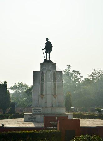 Mahatma Gahdhi statue in the