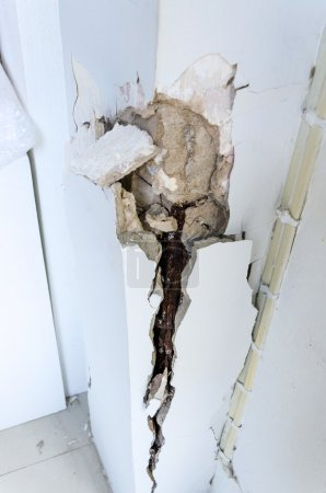 Cracked column and reinforced concrete